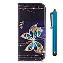 ieftine Cazuri telefon & Protectoare Ecran-Maska Pentru Huawei Honor 7X Portofel / Titluar Card / Cu Stand Carcasă Telefon Fluture Greu PU piele pentru Honor 7X / Honor 6X