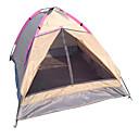 baratos Barracas & Abrigos-LANGYA 2 Pessoas Barracas de Acampar Leves Único Poste Dome Barraca de acampamento Ao ar livre Secagem Rápida, Respirabilidade para Campismo Poliéster