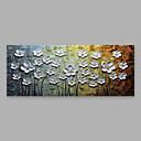 זול הדפסים-ציור שמן צבוע-Hang מצויר ביד - פרחוני / בוטני מודרני בַּד
