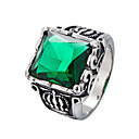 cheap Men's Rings-Men's Statement Ring - Stainless Punk, Hip-Hop 8 / 9 / 10 Black / Red / Dark Green For Daily / Street