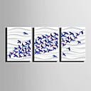 Недорогие Печать на холсте-Отпечатки на холсте Modern, 3 панели холст Вертикальная С картинкой Декор стены Украшение дома