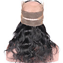 cheap One Pack Hair-brazilian virgin human hair closure pre plucked 360 lace frontal closure with baby hair body wave 360 lace closure with blenched knots natural color