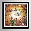 halpa Kehystetty taide-Kehystetty kanvaasi Kehystetty setti - Abstrakti Sarjakuva Muovi Illustration Wall Art