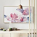 billige Mørkleggingsgardiner-Landskap Blomstret/Botanisk Tegning Veggkunst,Plastikk Materiale med ramme For Hjem Dekor Rammekunst Stue Innendørs