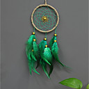cheap Wall Decor-Wall Decor Feather/Fur Pastoral Wall Art, Dreamcatcher of 1