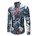 זול תיקי ערב וקלאצ'ים-פרחוני צווארון קלאסי וינטאג' / סגנון סיני מידות גדולות פשתן, חולצה - בגדי ריקוד גברים / שרוול ארוך