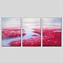 זול הדפסי בד מתוחים-ציור שמן צבוע-Hang מצויר ביד - פרחוני / בוטני מודרני בַּד