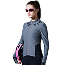 cheap Facial Care Device-SANTIC Women's Long Sleeve Cycling Jersey - Gray Bike Jersey