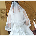 cheap Wedding Flowers-One-tier Modern Style / Wedding / Simple Style Wedding Veil Elbow Veils with Fringe / Splicing Lace / Tulle / Oval