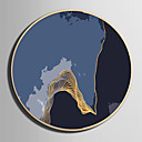 رخيصةأون رسومات زيتية-تجريدي مناظر طبيعية توضيح جدار الفن,البلاستيك مادة مع الإطار For تصميم ديكور المنزل الفن الإطار غرفة الجلوس