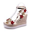 ieftine Sandale de Damă-Pentru femei Pantofi PU Vară Mary Jane Sandale Toc Platformă Vârf deschis Paiete Auriu / Argintiu / Tocuri de toc