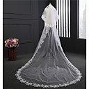 cheap Headsets & Headphones-Two-tier Vintage Style Wedding Veil Chapel Veils with Embroidery Tulle / Classic
