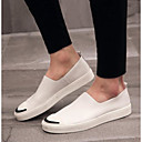 זול מגפיים לגברים-בגדי ריקוד גברים עור קיץ נוחות נעליים ללא שרוכים לבן