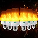 זול כרית-ywxlight ® 6pcs יצירתי 3 מצבים להבה אורות e26 / e27 e12 e14 b22 הוביל אפקט הלהבה אש נורה 5w מהבהבת אמולציה מנורה