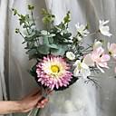 זול הד פיס למסיבות-פרחים מלאכותיים 4 ענף כפרי / פרחי חתונה חמניות / צמחים / חַרצִית פרחים לשולחן