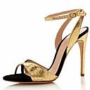 cheap Women's Sandals-Women's Shoes Cowhide Spring / Summer Comfort / Basic Pump Sandals Stiletto Heel Gold / Green
