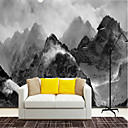 cheap Wall Murals-Art Deco 3D Stone Home Decoration Vintage Modern Wall Covering, Canvas Material Adhesive required Mural, Room Wallcovering