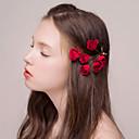 olcso Parti fejdíszek-Flanel Hair Clip val vel Virág 1db Esküvő / Party / estély Sisak