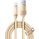tanie Kable i Ładowarka-Oświetlenie Adapter kabla USB Wysoka prędkość / Szybka opłata Kable Na iPhone 100 cm Na Nylon