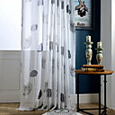 cheap Sheer Curtains-Sheer Curtains Shades Living Room Plants / Contemporary Cotton / Polyester Printed