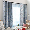 cheap Blackout Curtains-Blackout Curtains Drapes Bedroom Floral Multi Color Polyester Blend Printed