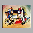 abordables Cuadros Abstractos-Pintura al óleo pintada a colgar Pintada a mano - Abstracto Modern Lona