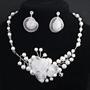 abordables Brazaletes-Mujer Cristal Conjunto de joyas Perla Flor Europeo, Moda Incluir Plata Para Boda Diario