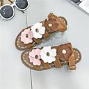 baratos Oxfords Femininos-Mulheres Sapatos Borracha Verão Conforto Sandálias Caminhada Creepers Preto / Bege / Castanho Escuro