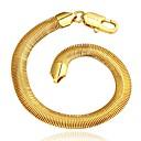 זול צמידי גברים-MPL 1pc נחושת בחוץ ל זהב / בגדי ריקוד גברים / שרשרת וצמידים