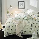זול כפפות דוביט פרחוני-סטי שמיכה פרחוני 4 חלקים 100% כותנה הדפסה תגובתית 100% כותנה כיסוי שמיכת יחידה 1 כריות מיטה 2 יחידות סדין יחידה 1