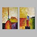 זול הדפסים-ציור שמן צבוע-Hang מצויר ביד - מופשט קלסי בַּד