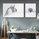 זול אומנות ממוסגרת-L ו-scape חיות איור וול ארט, פלסטיק חוֹמֶר עם מסגרת For קישוט הבית אמנות מסגרת סלון