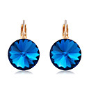 cheap Jewelry Sets-Women's Crystal Drop Earrings - Crystal, Gold Plated Classic, Elegant Dark Blue For Party / Evening / Daily