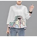 abordables Laminados en lienzo-Mujer Básico / Chic de Calle Camisa, Cuello Camisero