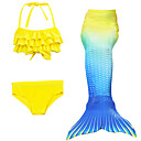 cheap Kids Halloween Costumes-Mermaid Tail Swimwear Men's Women's Halloween Children's Day Festival / Holiday Halloween Costumes Yellow Solid Colored Mermaid Mermaid