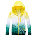 cheap Softshell, Fleece & Hiking Jackets-Men's Women's Hiking Windbreaker Hiking Jacket Outdoor Waterproof Windproof Sunscreen UV Resistant Spring Summer Ultraviolet Resistant Jacket Top Camping / Hiking Hunting Fishing Orange Yellow Pink