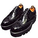 זול נעלי אוקספורד לגברים-בגדי ריקוד גברים PU סתיו / חורף נוחות נעלי אוקספורד שחור