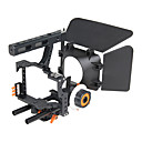 cheap Gimbal & Video Accessories-YELANGU Popular DSLR Camera Cage Shoulder Mount Rig Kit C500 Contain Follow Focus Matte Box Support Universal Cameras