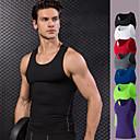 abordables Tops, Pantalones & Short para Correr-Hombre Yoga Top - Rojo, Azul, Verde claro Deportes Tank Tops / Camiseta Sin Mangas Ropa de Deporte Secado rápido, Alta elasticidad,