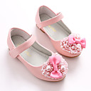 cheap Jewelry Sets-Girls' Shoes Leatherette Spring Ballerina / Flower Girl Shoes Flats Bowknot / Magic Tape for White / Pink