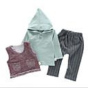 זול חולצות לבנות-סט של בגדים כותנה אביב סתיו יומי ספורט אחיד יוניסקס יום יומי פעיל תלתן לבן צהוב