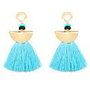 זול עגילים אופנתיים-בגדי ריקוד נשים טנזניט סינתטי פרנזים עגילי טיפה - שרף צִיצִית, וינטאג' כחול בהיר / ורוד בהיר / כחול ים עבור מסיבת ערב / רשמי