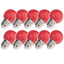 baratos Baterias Externas-YouOKLight 10pçs 3W 200lm E26 / E27 Lâmpada Redonda LED 8 Contas LED LED Dip Decorativa Amarelo Azul Vermelho 220-240V