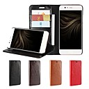 cheap Cell Phone Cases & Screen Protectors-Case For Huawei P10 Plus P10 Lite Card Holder Wallet Shockproof with Stand Flip Full Body Cases Solid Color Hard Genuine Leather for P10