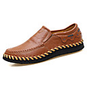cheap Men's Slip-ons & Loafers-Men's Driving Shoes Nappa Leather / Cowhide Spring / Fall Comfort Loafers & Slip-Ons Walking Shoes Black / Light Brown / Dark Brown