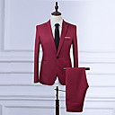 billige Oxfordsko til herrer-Store størrelser Hakkjakkeslag Tynn Blazer - Ensfarget Vintage Herre
