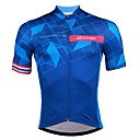 cheap Cycling Jerseys-SPAKCT Men's Short Sleeve Cycling Jersey - Blue Gradient Bike Jersey, Quick Dry Sweat-wicking Elastane Polyster / Stretchy / Advanced / Expert / YKK Zipper / Italy Imported Ink