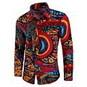 זול מגנים לטלפון & מגני מסך-שבטי צווארון רחב בוהו מידות גדולות כותנה, חולצה - בגדי ריקוד גברים דפוס / שרוול ארוך