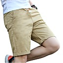 cheap Other Parts-Men's Plus Size Cotton Slim Chinos / Shorts Pants - Solid Colored Pleated / Please choose one size larger according to your normal size.