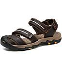 tanie Sandały męskie-Męskie Komfortowe buty Skóra bydlęca Wiosna / Lato Sandały Sporty wodne Ciemno czerwony / Ciemnobrązowy
